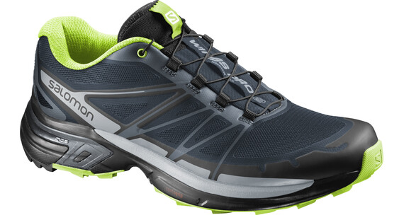 Salomon Wings Pro 2 Trailrunning Shoes Men slateblue/light onix/granny green